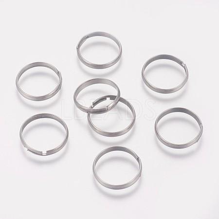 316 Stainless Steel Finger Ring SettingsX-STAS-I090-02P-1
