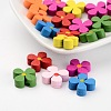 Mixed Lead Free Wood Flower BeadsX-WOOD-13D-M-1