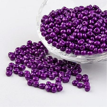 6/0 Baking Paint Glass Seed BeadsX-SEED-S003-K13-1