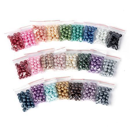 24 Colors Glass Pearl BeadsHY-JQ0001-8mm-03-1