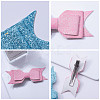 NBEADS Cloth Bowknot Alligator Hair Clips OHAR-NB0001-02-3
