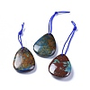 Natural Chrysocolla and Lapis Lazuli PendantsG-L505-28B-1