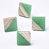 Opaque Resin & Wood Stud EarringsEJEW-N017-005A-B02-1