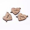 2-Hole Wooden Sewing ButtonsX-WOOD-S037-057-1