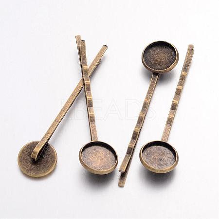 Antique Bronze Iron Hair Bobby Pin FindingsX-IFIN-Q101-5-NF-1