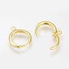 Brass Huggie Hoop Earring FindingsX-KK-Q675-53-1