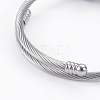 Fashion 304 Stainless Steel European Bracelets BJEW-L622-02-3