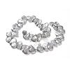 Teardrop Natural Baroque Pearl Keshi Pearl Beads StrandsPEAR-R015-10-2