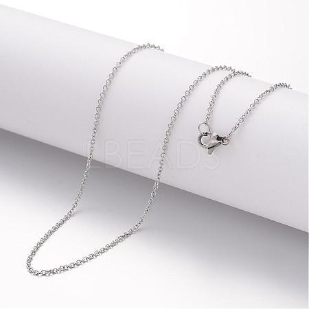 304 Stainless Steel Necklace MakingMAK-K004-18P-1