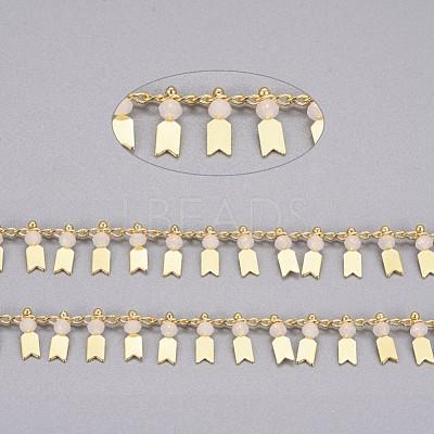 Handmade Glass Beaded ChainsCHC-I029-06D-1