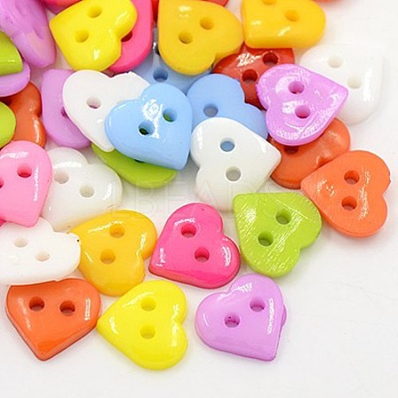 Acrylic Sewing Buttons for Costume DesignX-BUTT-E085-C-M-1