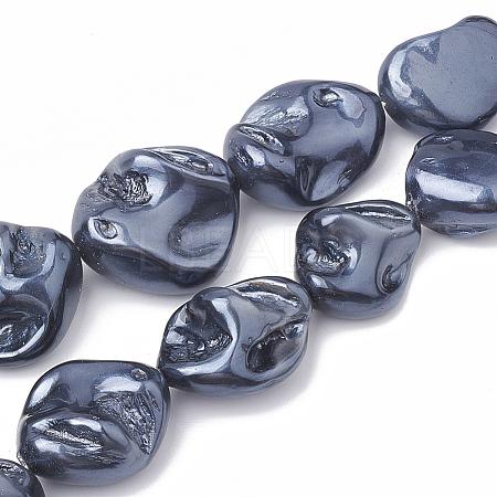 Shell Pearl Beads StrandsX-BSHE-Q031-15A-1