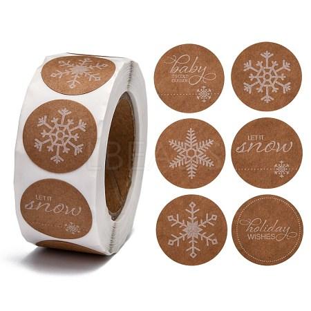Snowflakes Christmas Roll StickerX-DIY-G025-G01-1