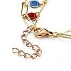 Brass Enamel Double Layer NecklacesNJEW-JN02831-4