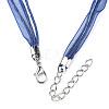 Waxed Cord and Organza Ribbon Necklace MakingX-NCOR-T002-227-3