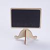 Wood Easel Chalkboard Place Card Holder BlackboardsX-AJEW-G017-04A-3