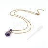 Natural Fluorite Openable Perfume Bottle Pendant NecklacesNJEW-E150-01B-G-2