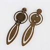 Tibetan Style Antique Bronze Iron Bookmark Cabochon Settings X-PALLOY-N0084-09AB-NF-2