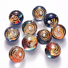 Universe Galaxy Starry Night Transparent Epoxy Resin Beads X-RESI-N024-008-2