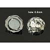 Platinum Round Brass Magnetic ClaspsX-KK-C2918-N-2