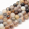 Natural Striped Agate/Banded Agate Bead StrandsX-G-K155-A-8mm-13-1