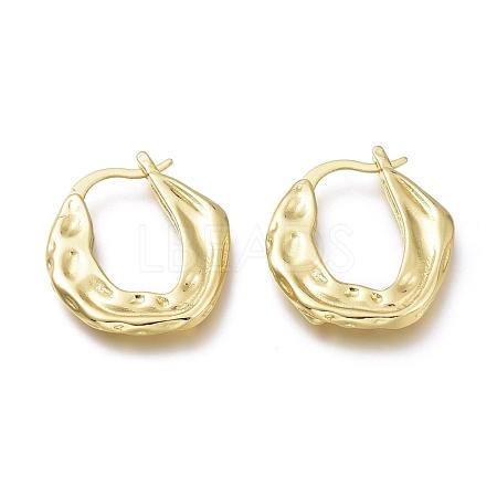 Brass Hoop EarringsEJEW-H104-17G-1
