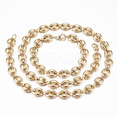 304 Stainless Steel Jewelry SetsSJEW-F157-19G-1